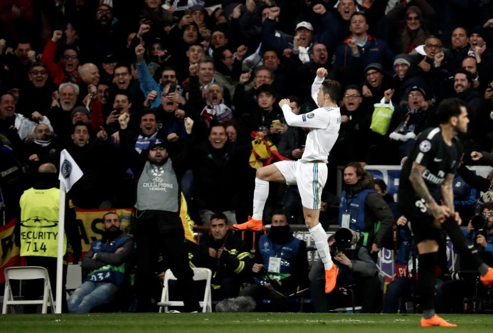 Real Madrid-PSG maçından kareler 13