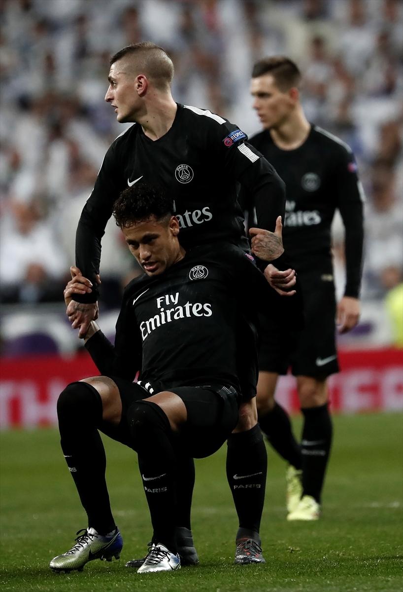 Real Madrid-PSG maçından kareler 7