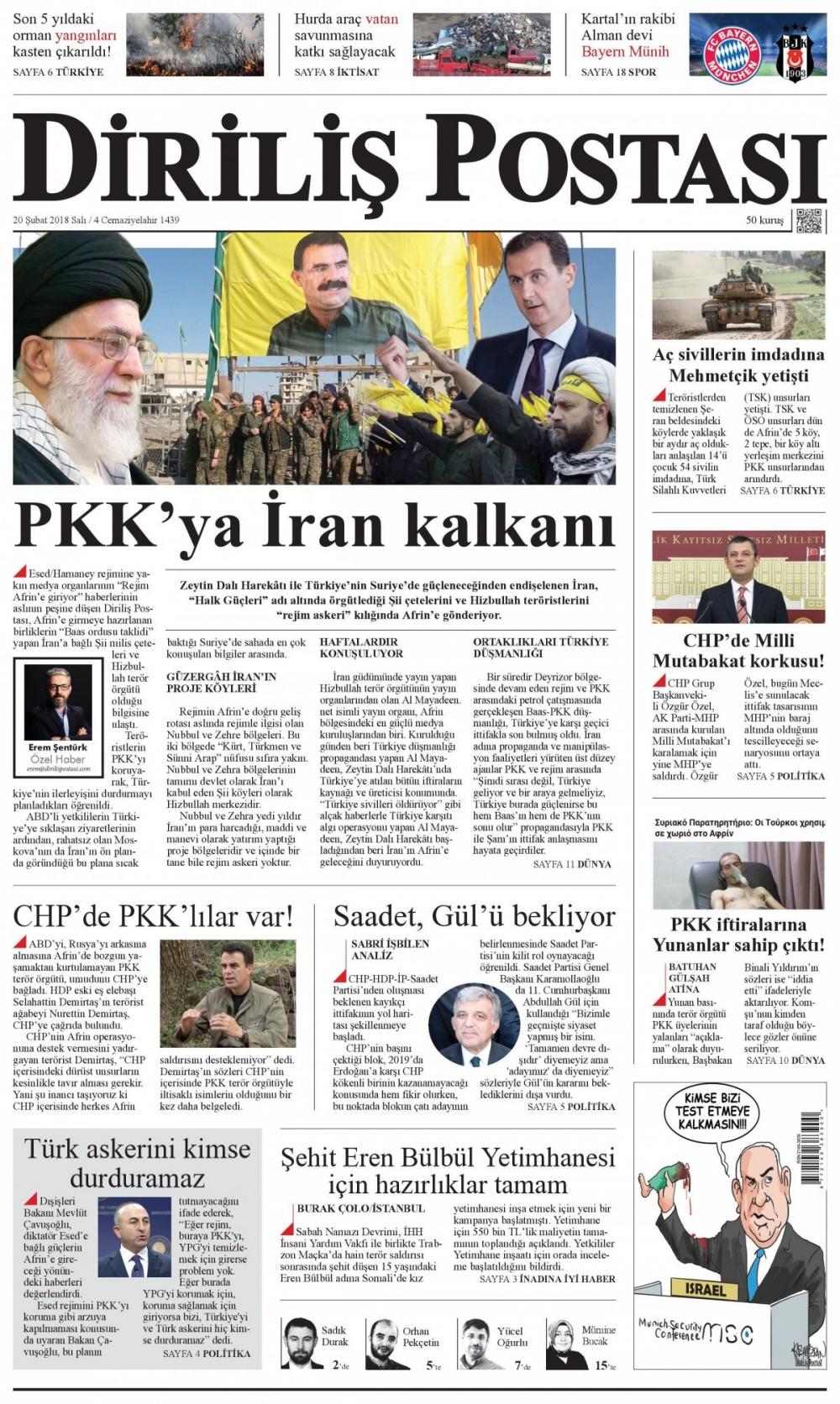Günün gazete manşetleri (20 Şubat 2018) 4