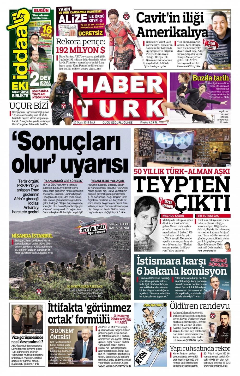 Günün gazete manşetleri (20 Şubat 2018) 7