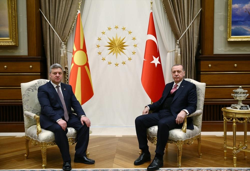 Makedonya Cumhurbaşkanı İvanov Ankara'da 11