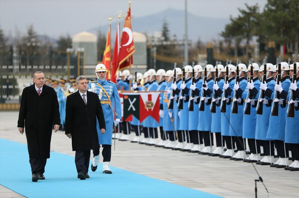Makedonya Cumhurbaşkanı İvanov Ankara'da 12