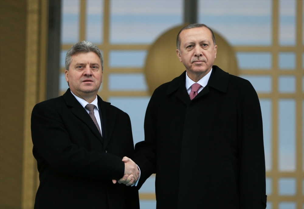Makedonya Cumhurbaşkanı İvanov Ankara'da 15