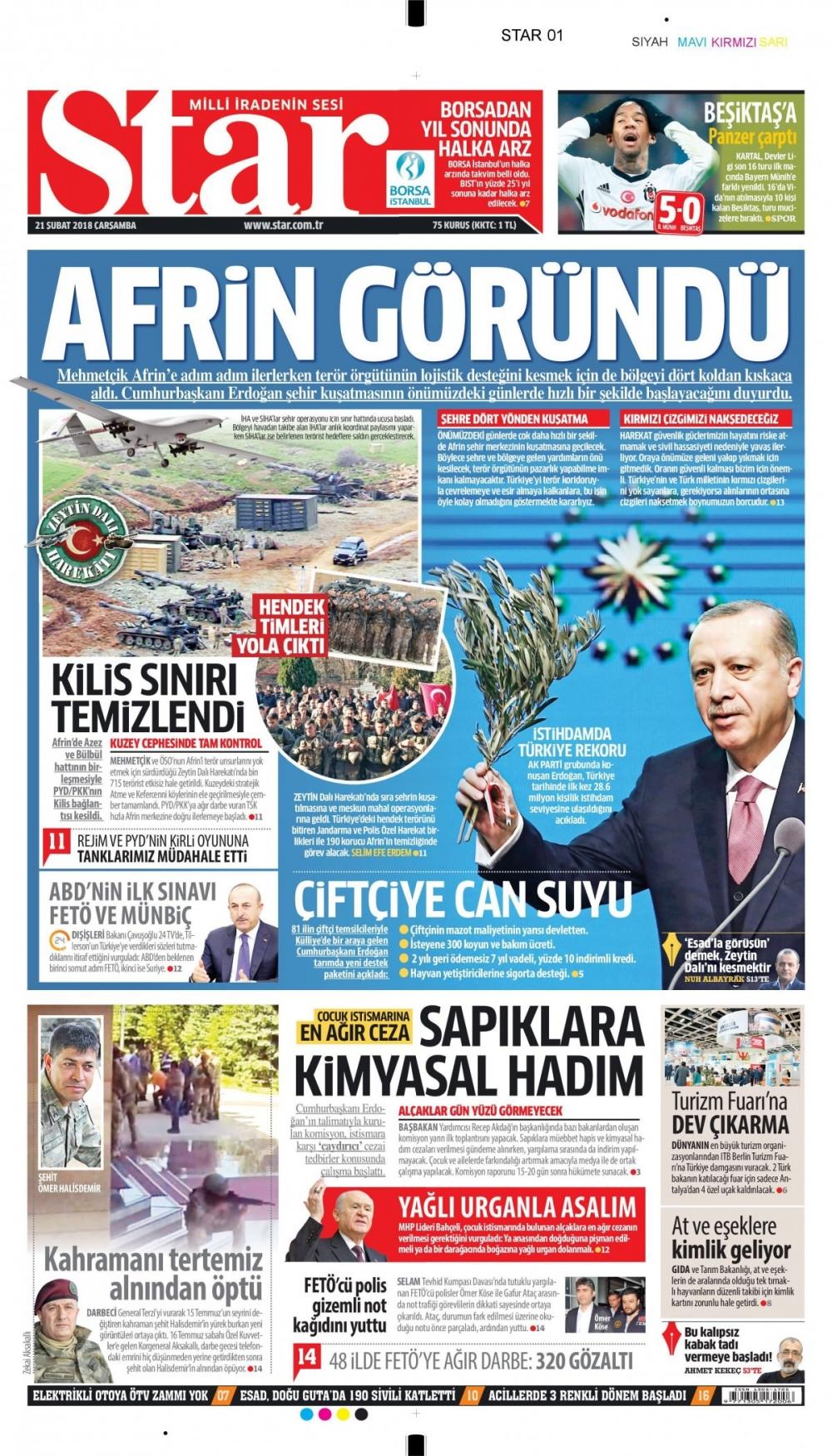 Günün gazete manşetleri (21 Şubat 2018) 4