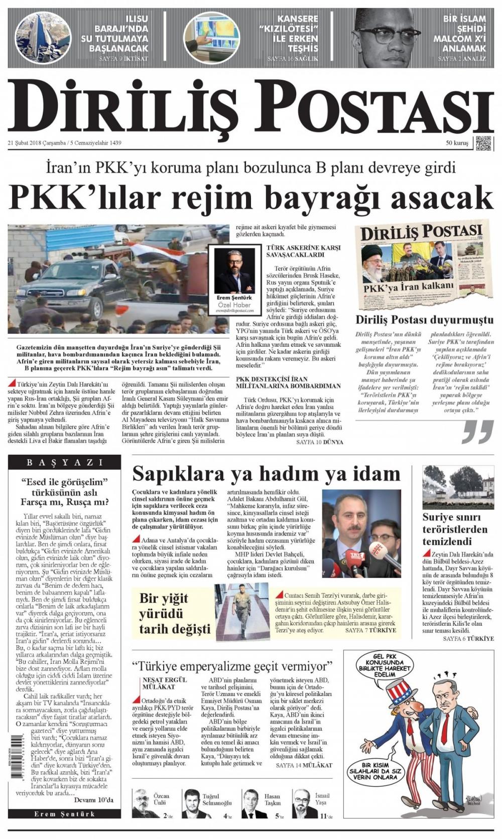 Günün gazete manşetleri (21 Şubat 2018) 9