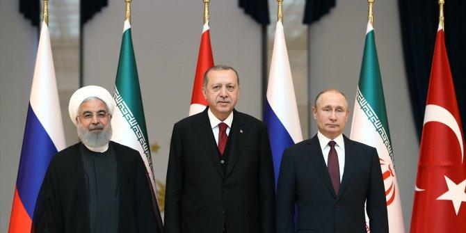 Türkiye-Rusya-İran üçlü zirvesinde kareler