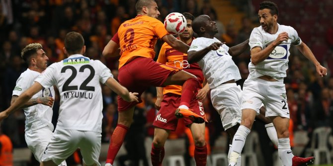 Galatasaray Akhisarspor maçından kareler