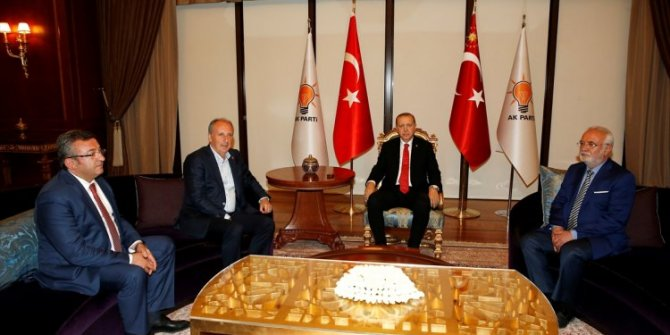 Cumhurbaşkanı Erdoğan-Muharrem İnce görüşmesinden kareler