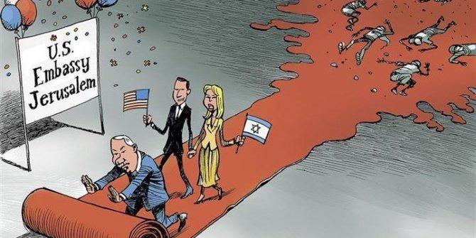 ABD ve İsrail katliamı karikatürlerde yorumlandı