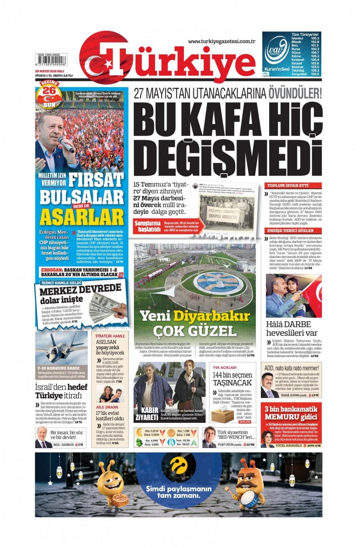 Günün gazete manşetleri (29 Mayıs 2018) 1