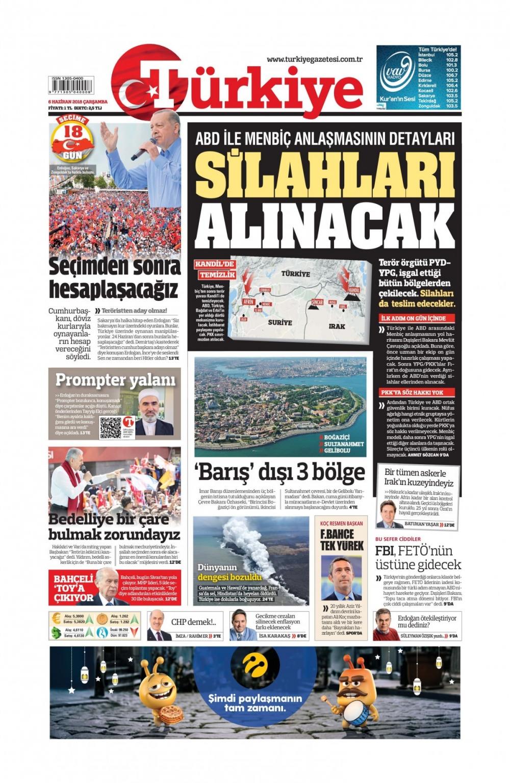 Günün gazete manşetleri (6 Haziran 2018) 1