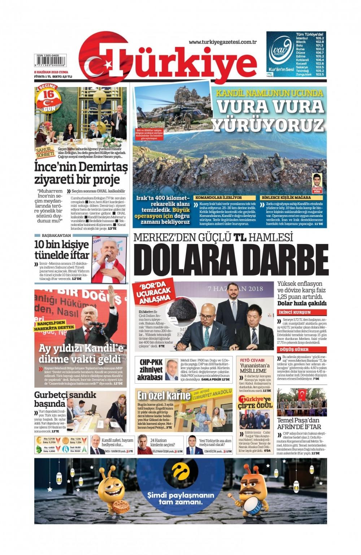 Günün gazete manşetleri (8 Haziran 2018) 1