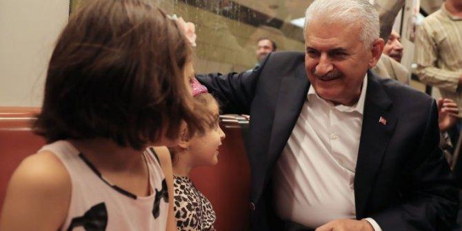 Başbakan Marmaray'da!