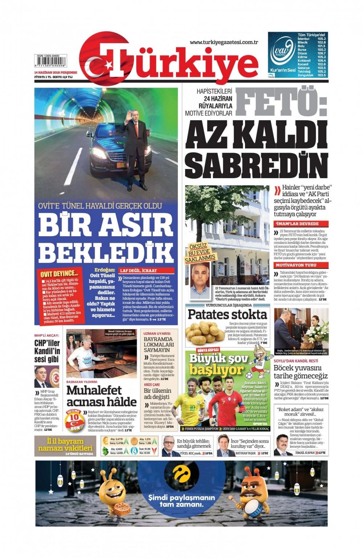 Günün gazete manşetleri ( 14 Haziran 2018) 1