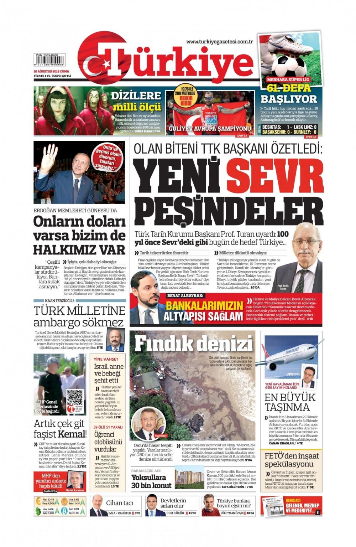 Günün gazete manşetleri ( 10.08. 2018) 1