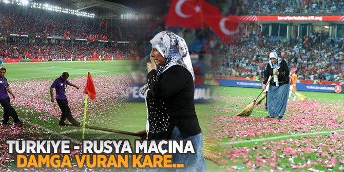 Rusya-Türkiye maçına damga vuran kareler