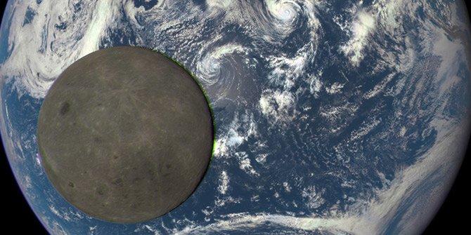 'Ay'ın karanlık yüzü' görüntülendi