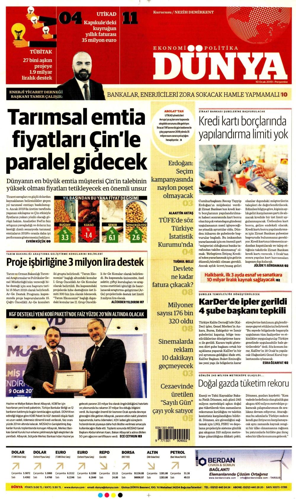 Günün gazete manşetleri (10.01.2019) 1