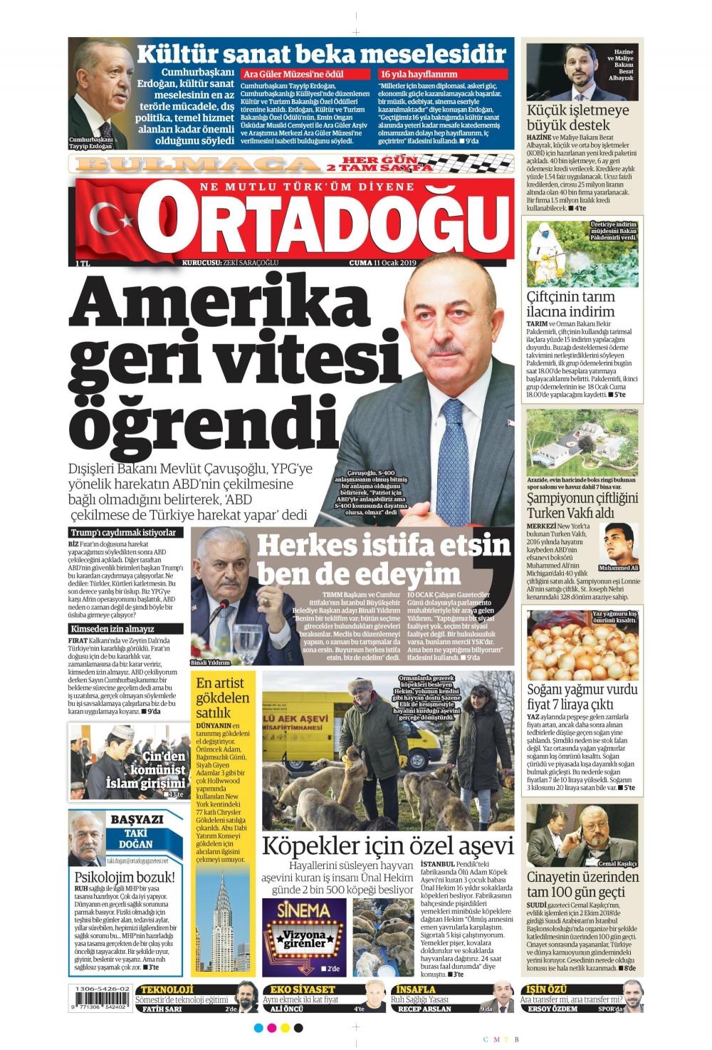 Günün gazete manşetleri (11.01.2019) 1