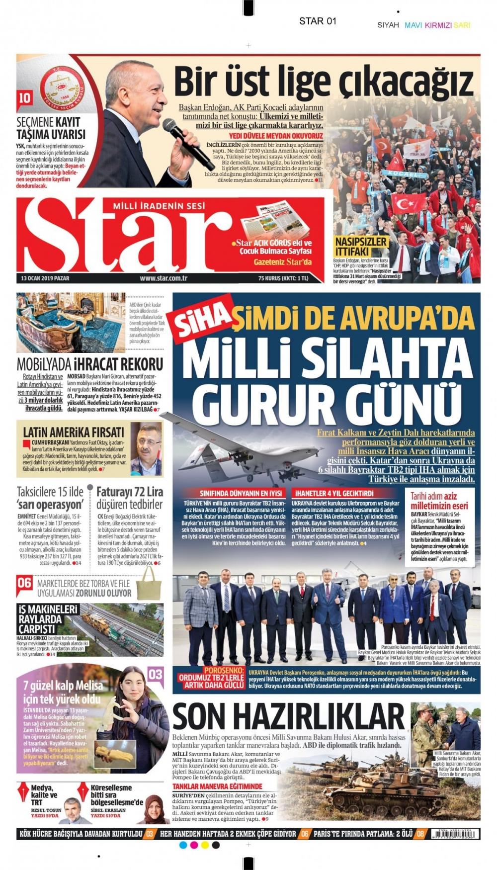 Günün gazete manşetleri (13.01.2019) 1