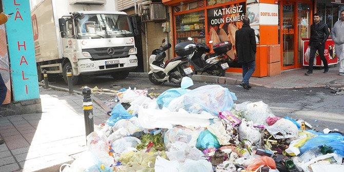 Maaş krizinde son perde... Şişli çöp yığınına döndü