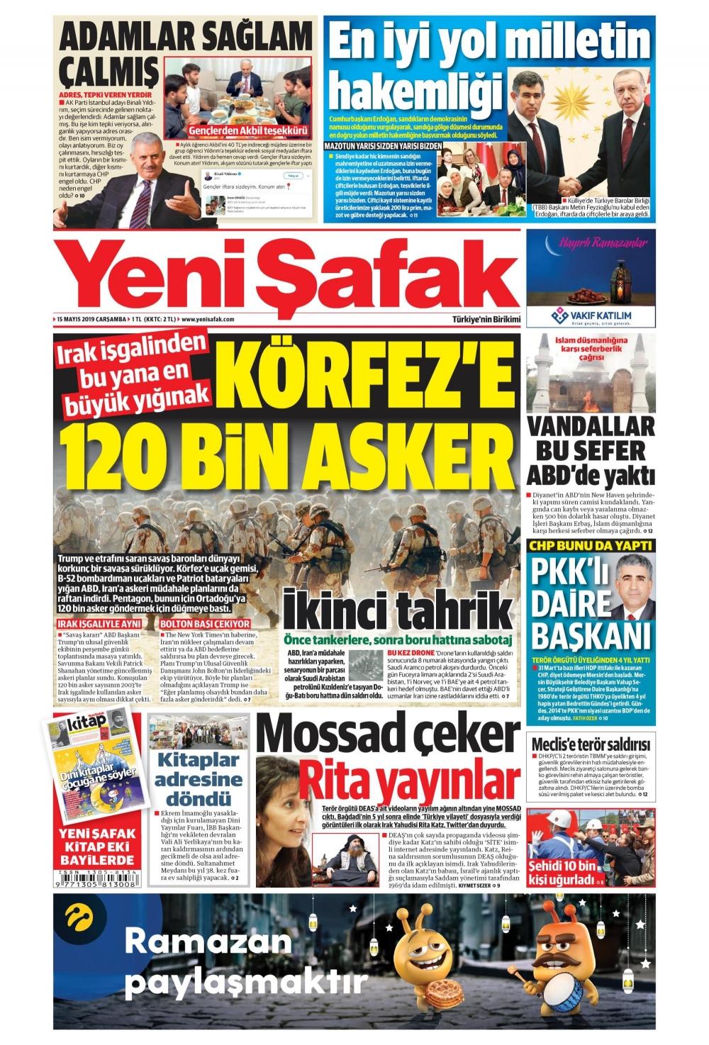 Günün gazete manşetleri (15.05.2019) 1