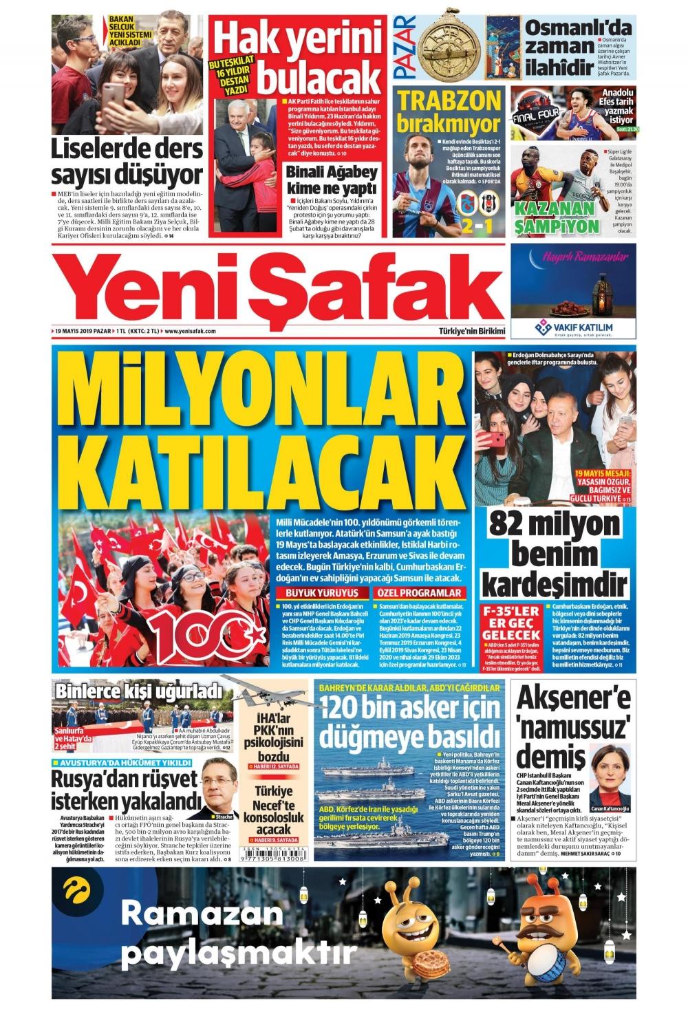 Günün gazete manşetleri (19.05.2019) 1