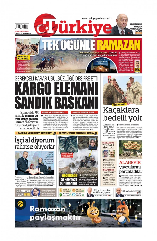 Günün gazete manşetleri (24.05.2019) 1