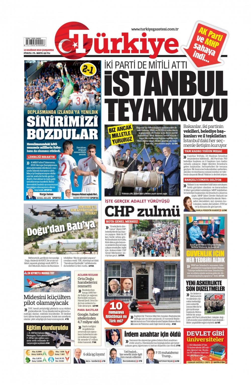 Günün gazete manşetleri (12.06.2019) 1