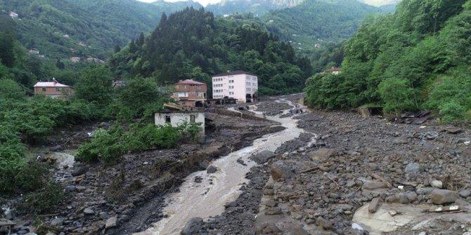 Trabzon'un Araklı ilçesindeki sel felaketi
