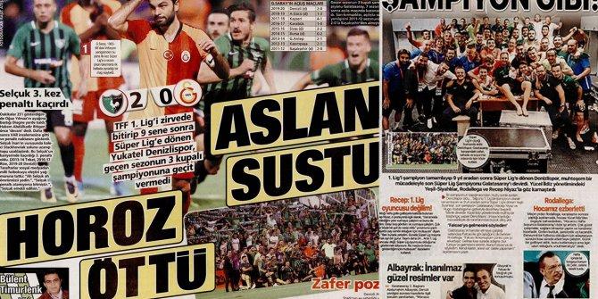 """Günün spor manşetleri (17 Ağustos 2019)   """"Aslan sustu, horoz öttü&"""
