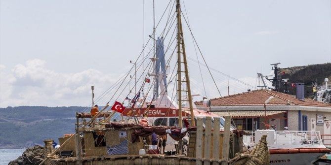 Antik dönemin izlerini taşıyan  gemi İstanbul'da