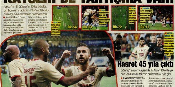 Günün spor manşetleri (30 Ağustos 2019)