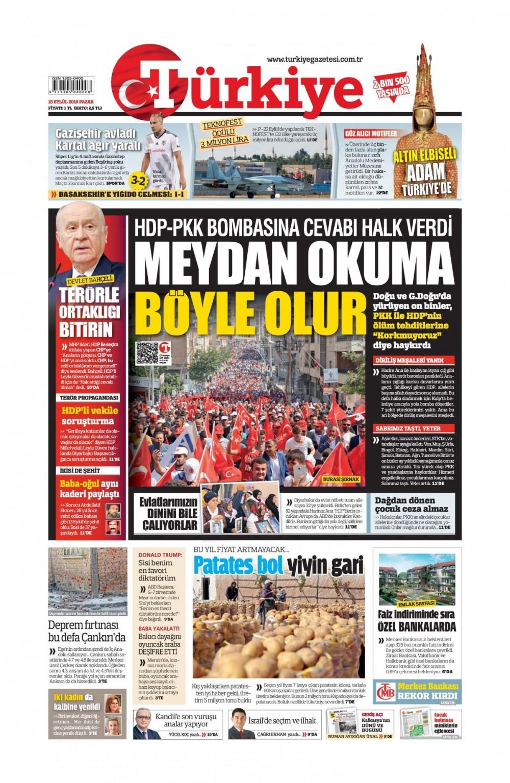 Gazeteler bugün ne yazdı? (15 Eylül 2019) 1