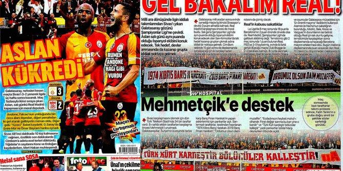 """Günün spor manşetleri (19 Ekim 2019)  """"Aslan kükredi"""""""