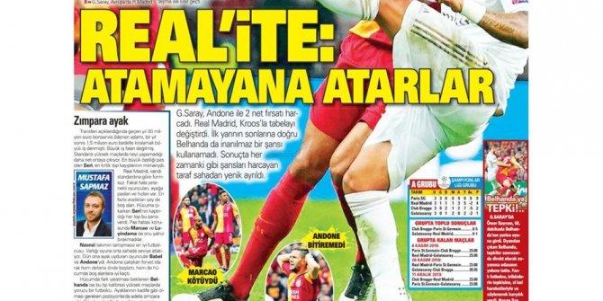 Günün spor manşetleri (23 Ekim 2019) (Real'ite: Atamayanlara atarla