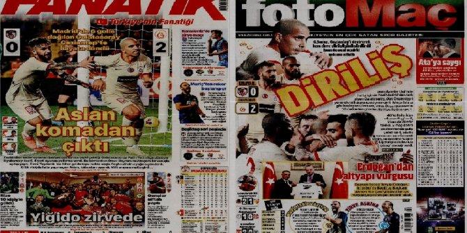"""Günün spor manşetleri (10 Kasım 2019)  """"Aslan komadan çıktı"""""""