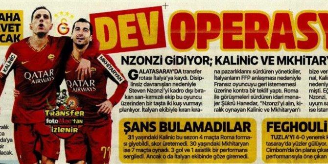 Günün spor manşetleri (19 Aralık 2019)  Galatasaray'da dev operasyon