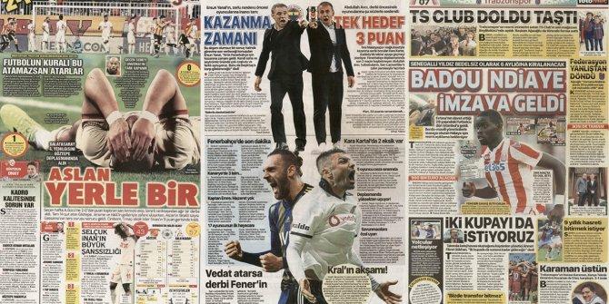 """Günün spor manşetleri (22 Aralık 2019) """"Aslan yerle bir"""""""