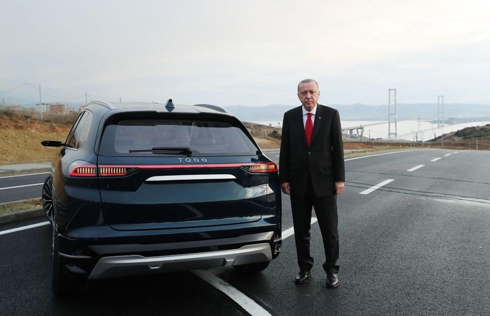 Cumhurbaşkanı Erdoğan, yerli otomobili kullandı 1
