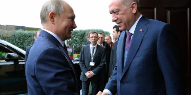 Başkan Erdoğan - Putin görüşmesinden ilk kareler!