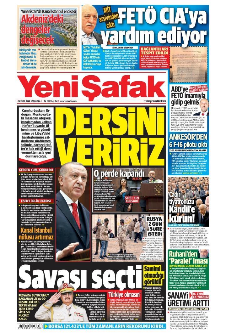 Gazeteler bugün ne yazdı? (15 Ocak 2020 Gazete manşetleri) 1