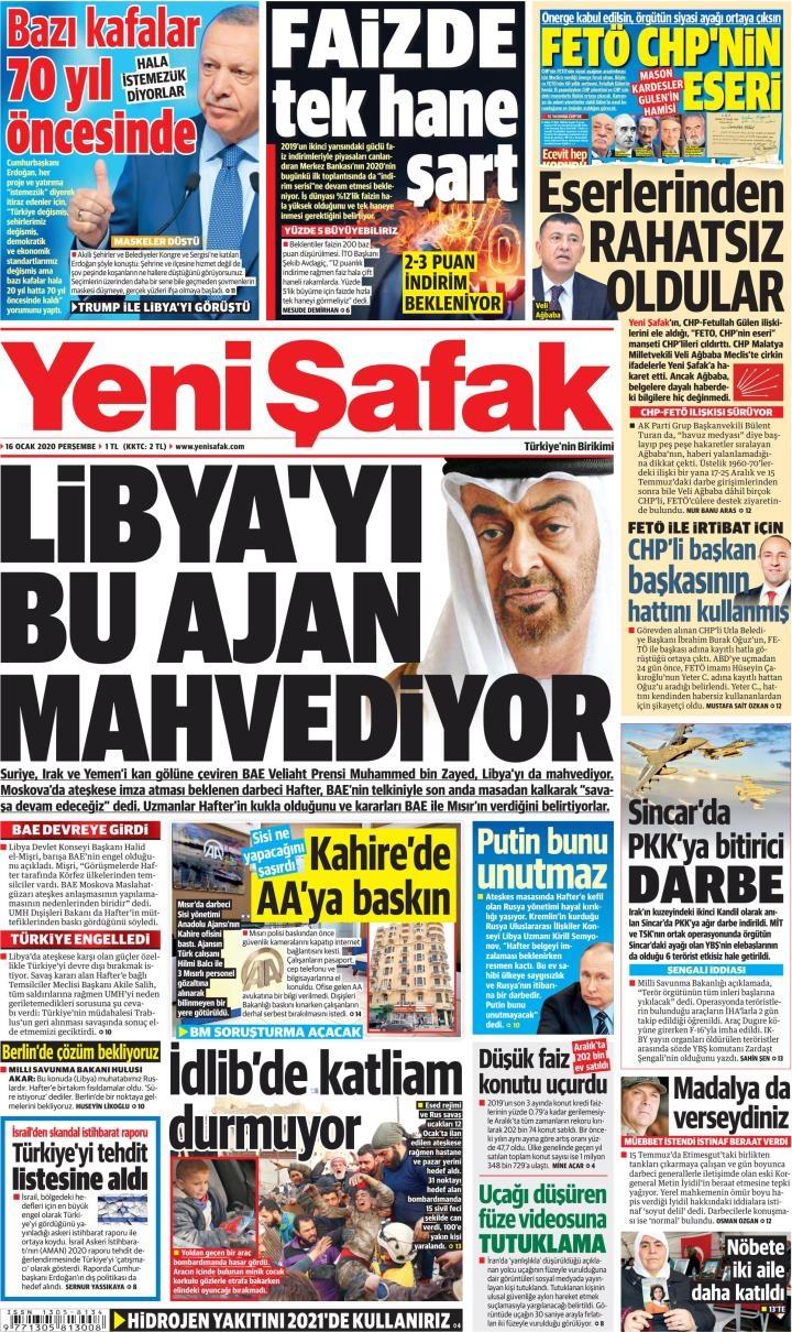 Gazeteler bugün ne yazdı? (16 Ocak 2020 Gazete manşetleri) 1