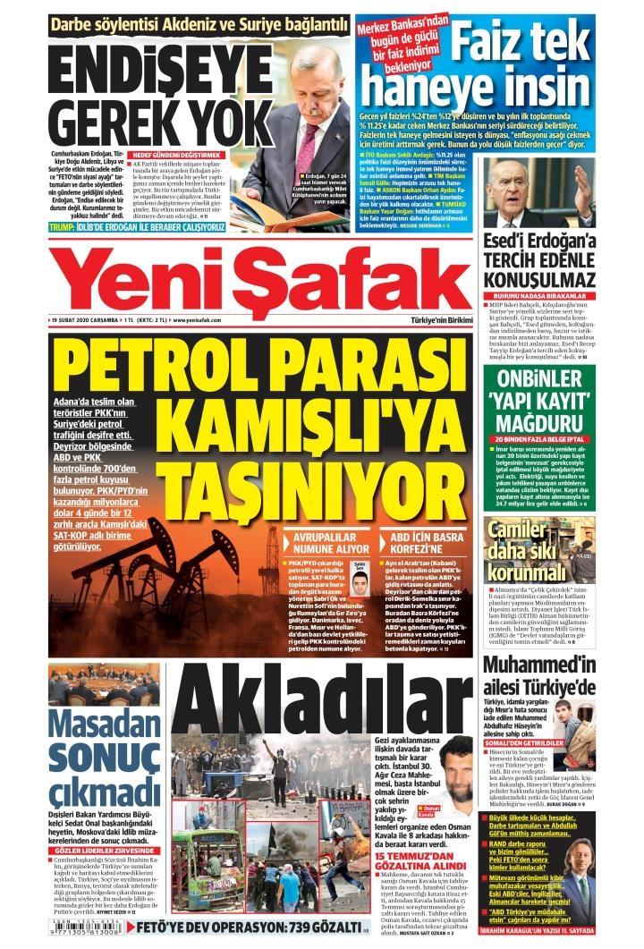 Gazeteler bugün ne yazdı? 19 Şubat gazete manşetleri 1