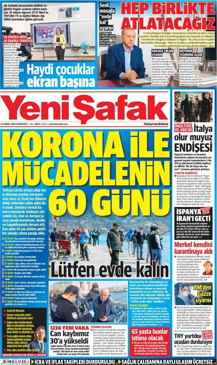 Gazeteler bugün ne yazdı?  23 mart gazete manşetleri 1
