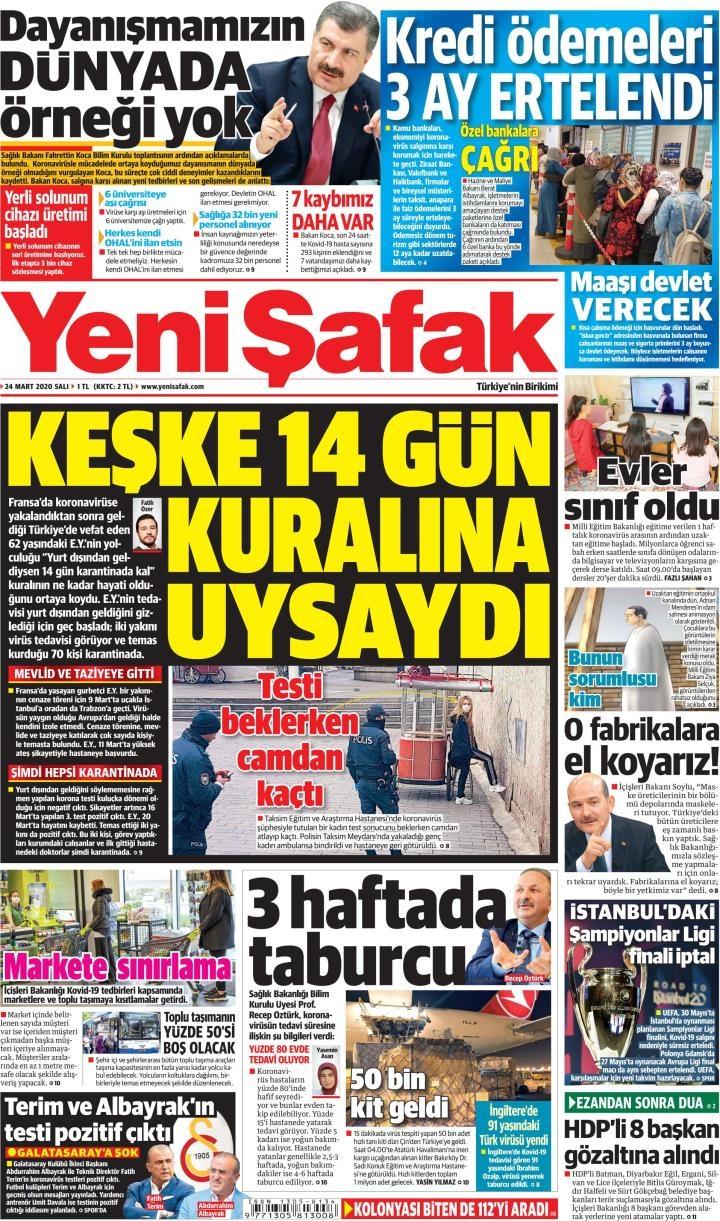 Gazeteler bugün ne yazdı? 24 Mart Gazete Manşetleri 1