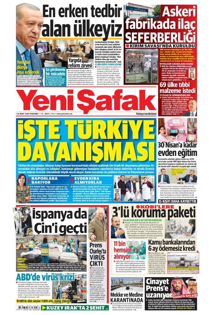 Gazeteler bugün ne yazdı? 26 Mart Gazete Manşetleri 1