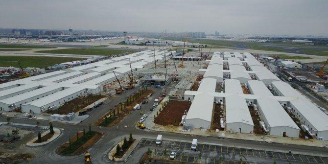 Atatürk Havalimanı'ndaki hastane inşaatı 28. gününde