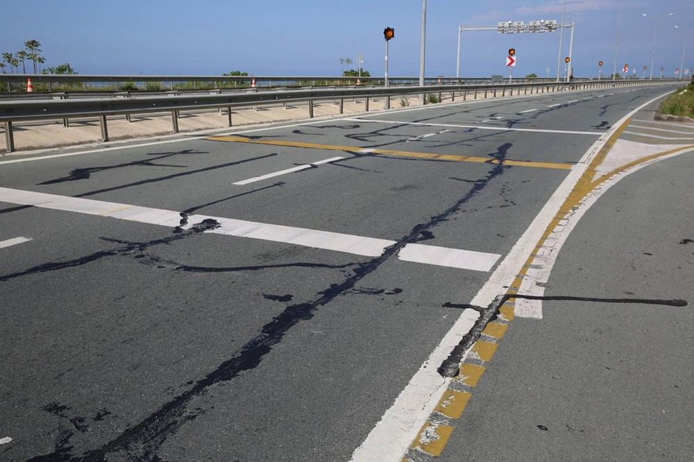 Karadeniz'de sahil yolunda 'çatlak' tehlikesi 1