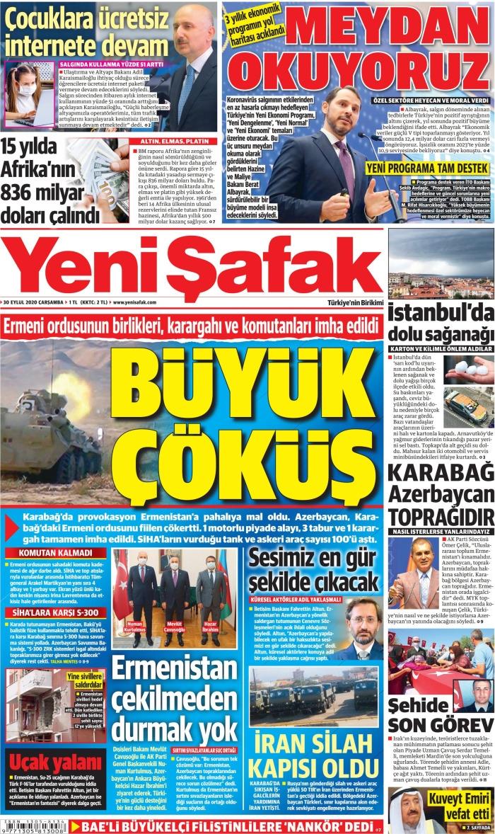 Günün Gazete Manşetleri 30 Eylül 2020 1
